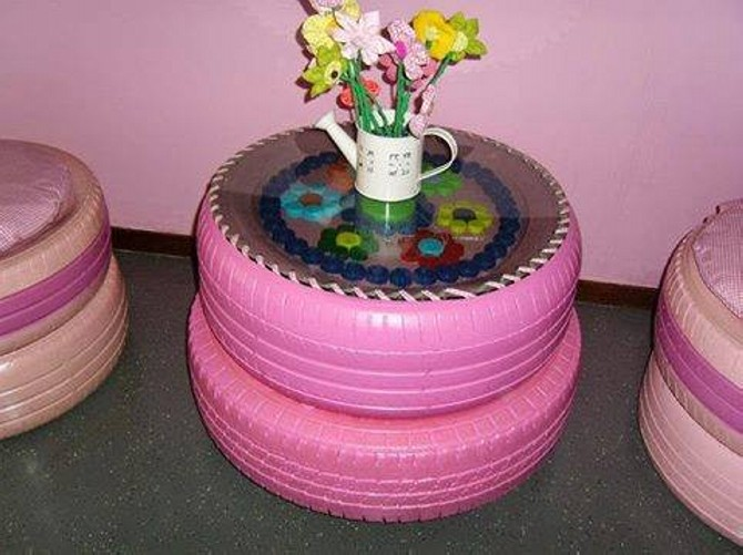 Used Tires Upcycled to Table