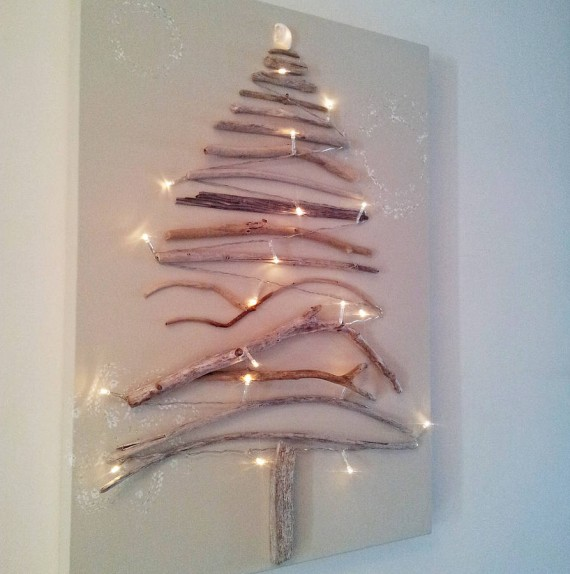Wall Driftwood Christmas Tree