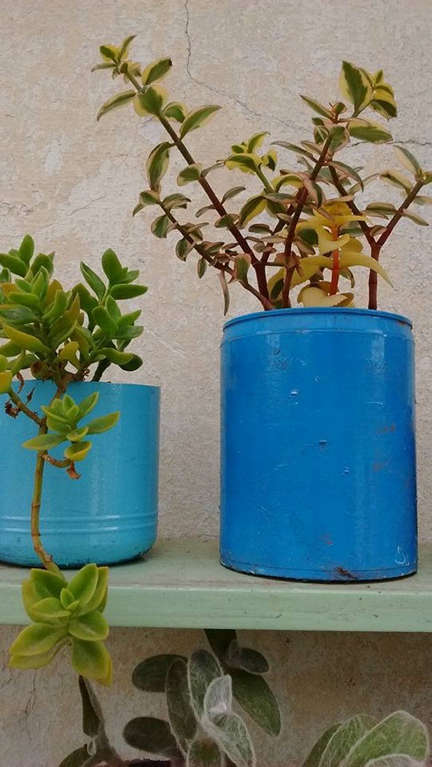dIY Upcycled Pots