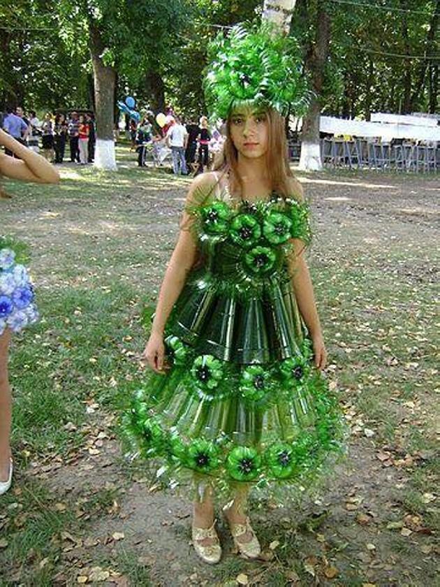 Платье из подручного материала: мастер класс своими руками 67