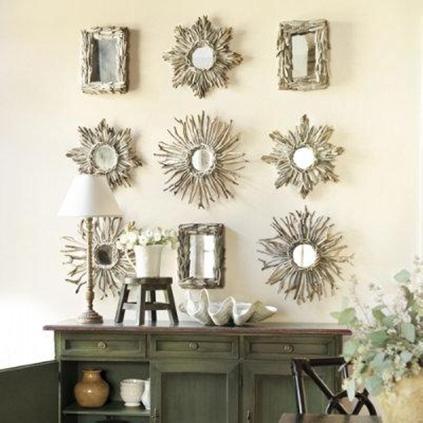 Driftwood Wall Art Mirrors