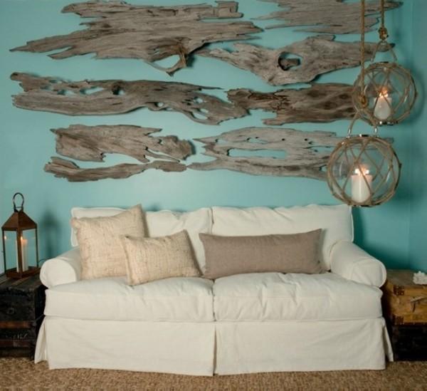 Driftwood wall ideas