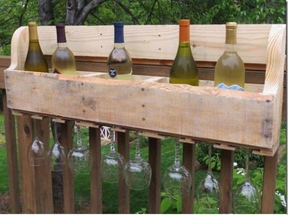 Garden Pallet Wine Racks