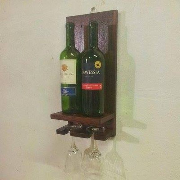 Little Pallet Wine Bottle Holder