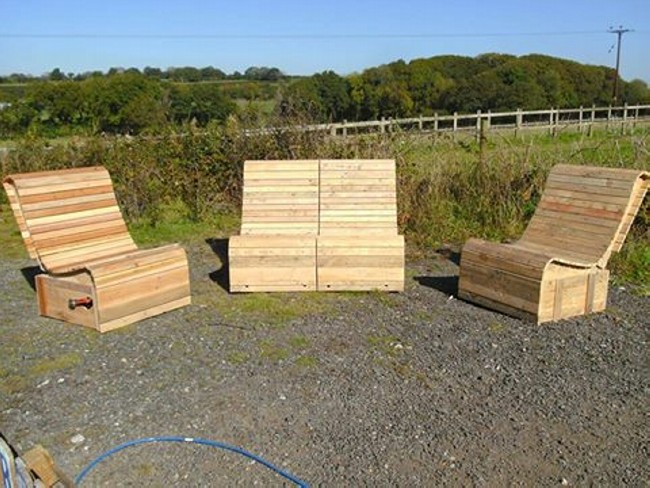 Pallet Artistic Patio Furniture