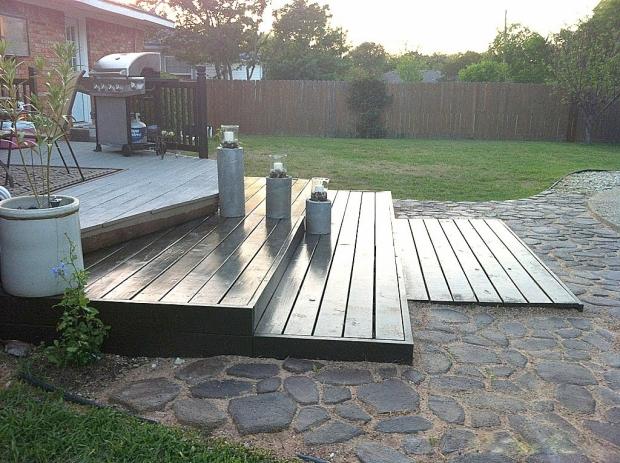 Pallet Garden Deck Plans