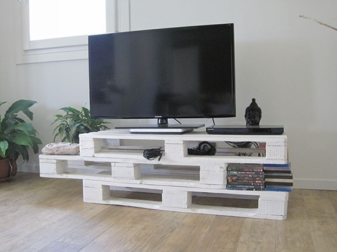 Pallet tv stand ideas upcycle art - Idee deco avec palette ...