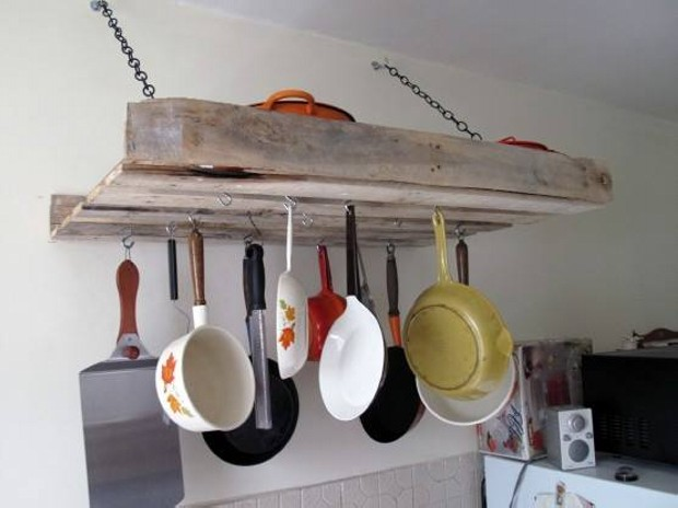 Pallet Wall Kitchen Shelf