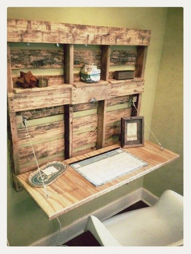 Pallet Wall Shelves Idea