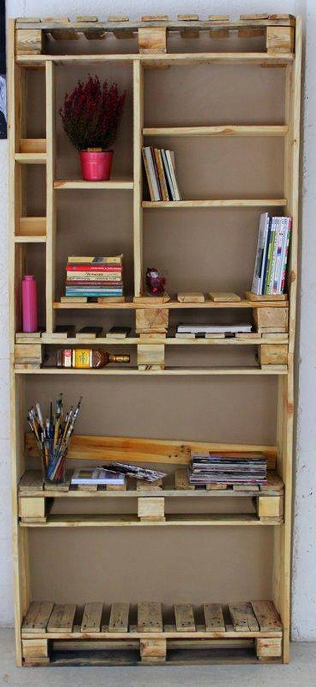 Pallet Wall Shelves Plans