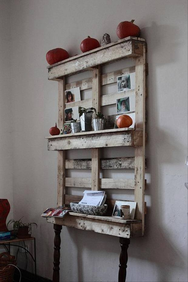 Pallet Wall Shelves Projects