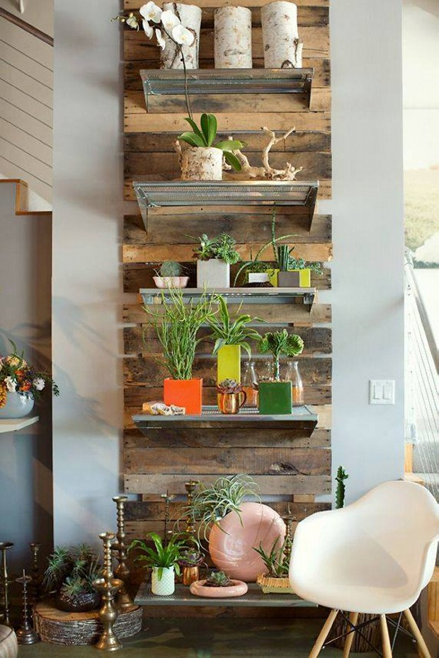 Pallet Wall Shelves for Home Decor