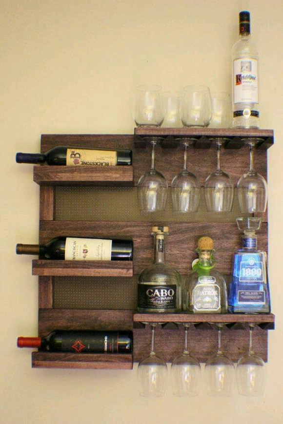 Pallet Wine Bottle Holder Designs