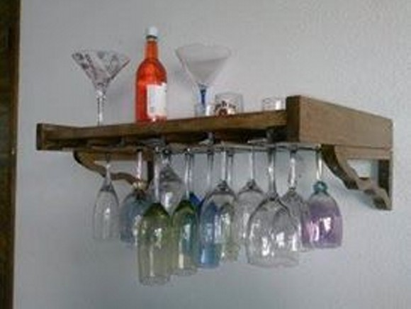 Pallet Wine Bottle Shelf