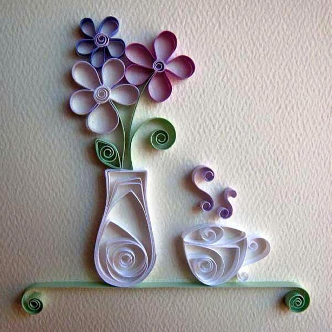 Diy paper flower ideas upcycle art for Paper wall art design