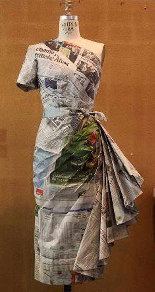 Paper Recycled Costumes