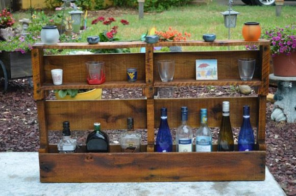 Patio Pallet Wine Racks