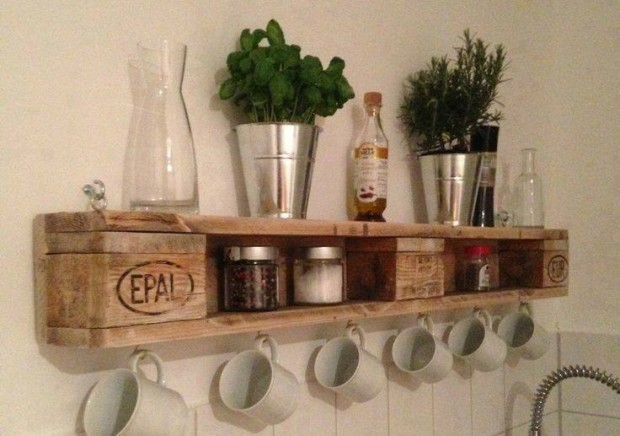 Upcycled pallet wall shelves upcycle art - Paletten wandregal ...