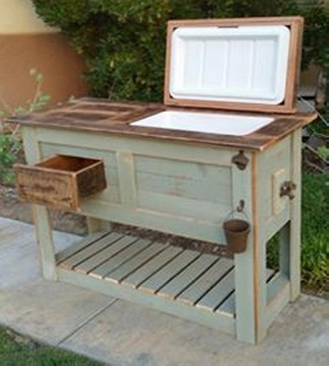 Rustic Custom Wood Coolers