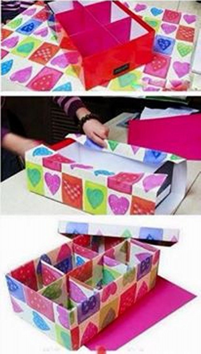 shoe boxes reuse ideas upcycle art ForReuse Shoe Box Ideas