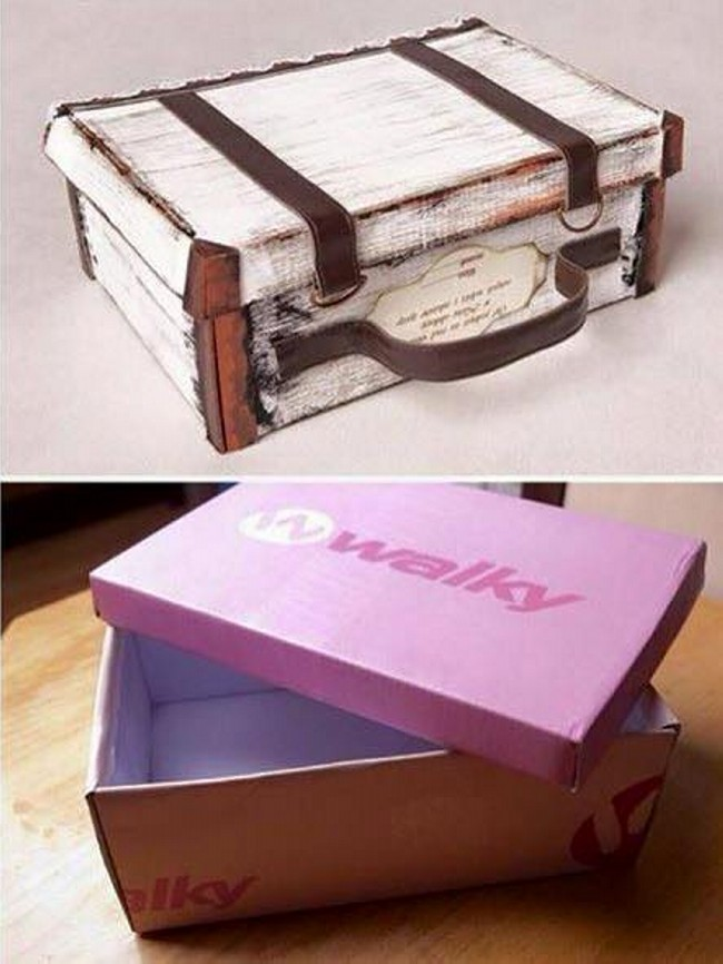 30 Shoe Box Craft Ideas: Shoe Boxes Reuse Ideas