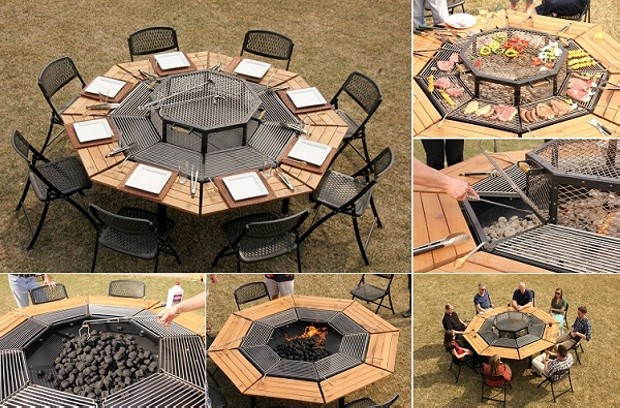 Unique BBQ Table