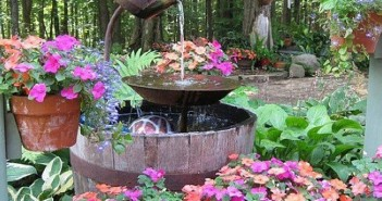 Upcycled Garden Fountain Ideas