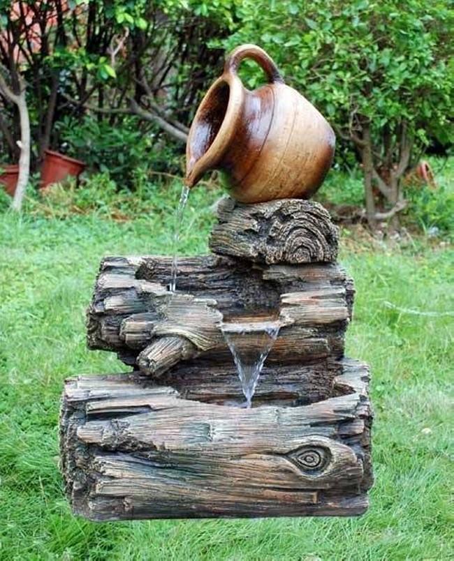 Upcycled Garden Fountain