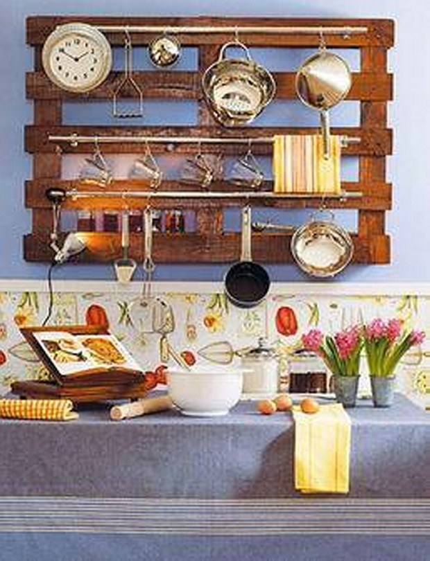 Upcycled Pallet Kitchen Shelves
