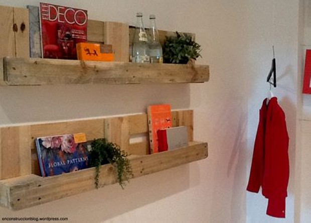 Upcycled Pallet Wall Shelves Storage