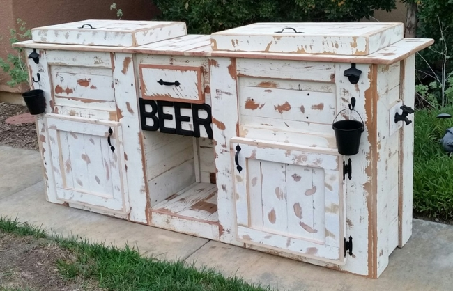 Upcycled Rustic Custom Wood Coolers