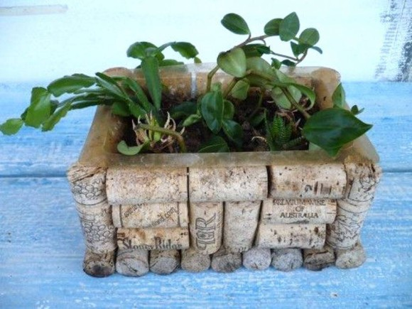 Wine Corks Planter