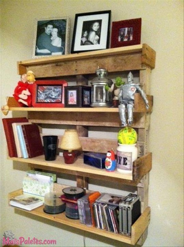 Wood Pallet Wall Shelves Ideas