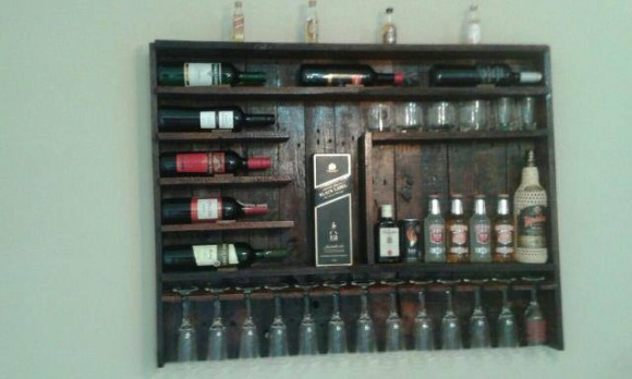 Wood Pallets Wine Bottle Rack
