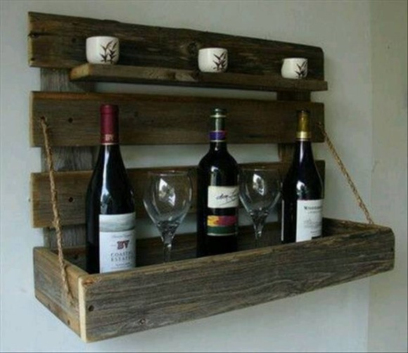 Wooden Pallet Wine Holder