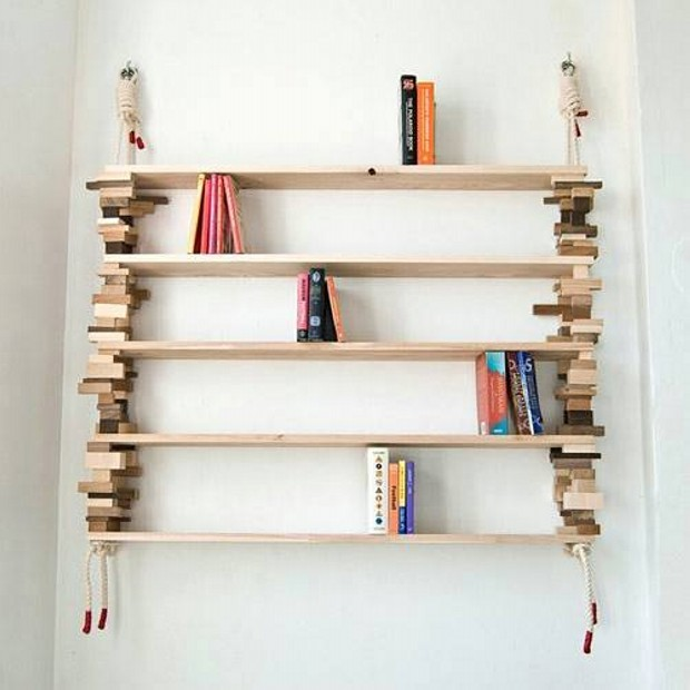 Wooden Pallets Wall Shelves