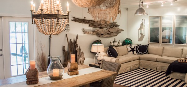 driftwood wall decorating