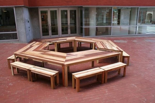 pallet round table furniture