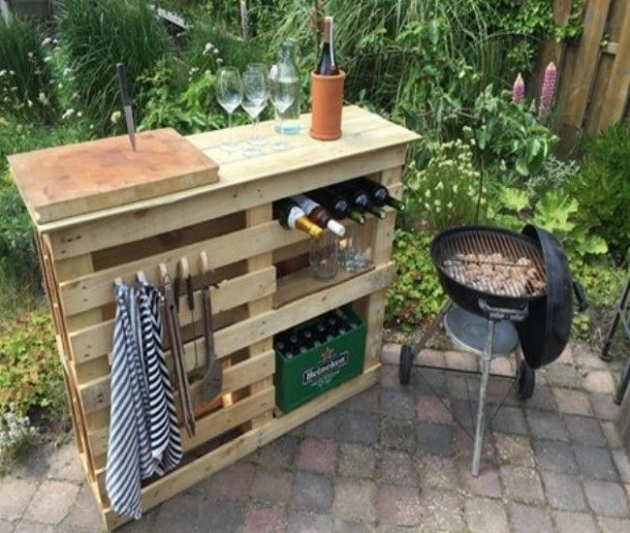 Bar Built From Pallets Images Simple Outdoor Ideas