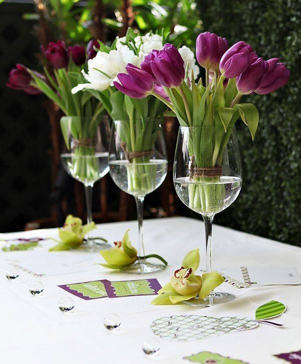 Beautiful Table Arrangements for Party Decor