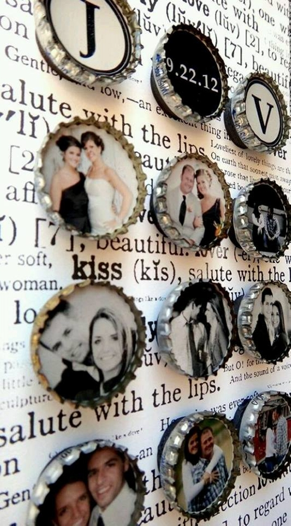 Bottle Caps Recycled Photo Frames