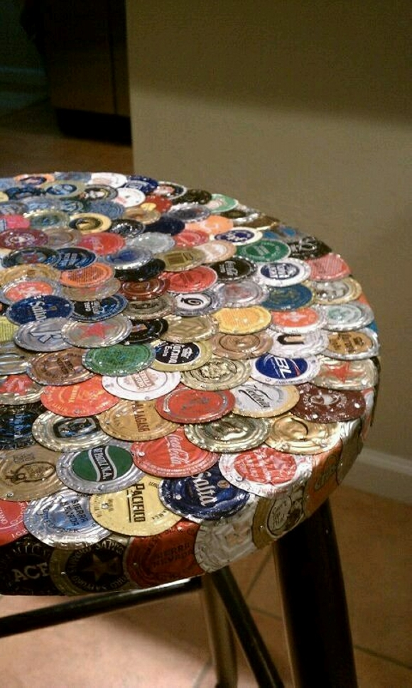 Bottle Caps Recycled Table Top