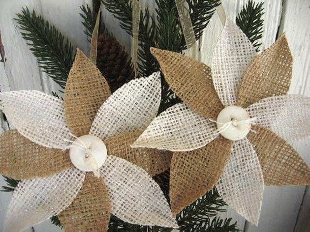 Burlap Flower Ideas