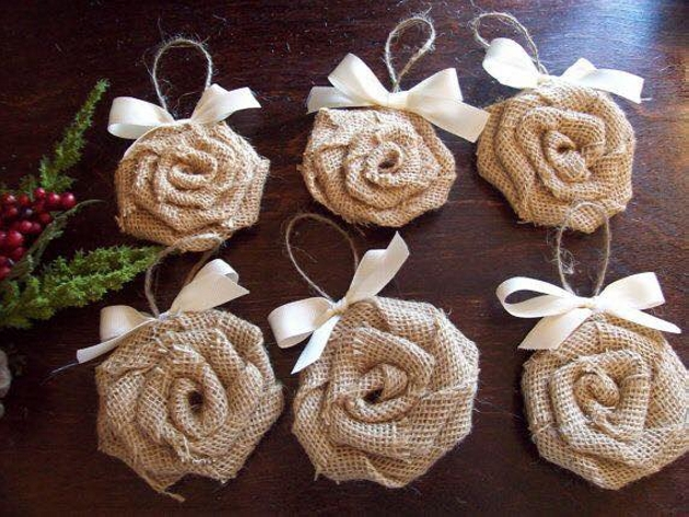 Burlap Upcycled Flowers