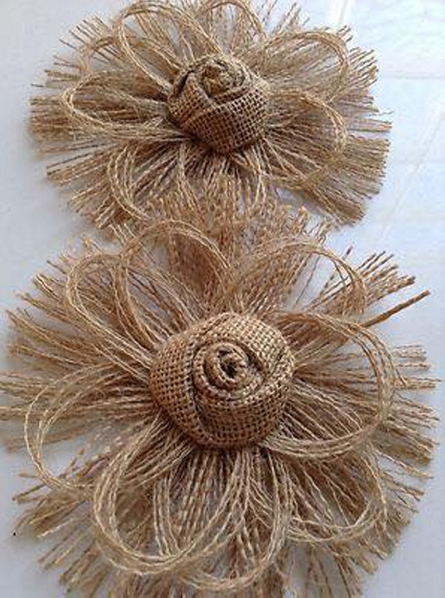 Burlap Upcycling Ideas for Flower