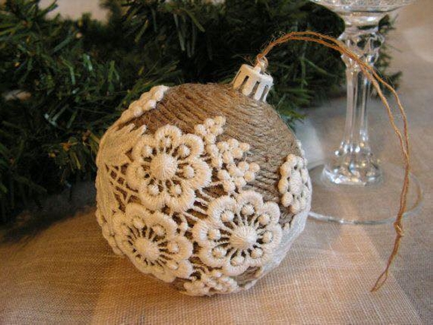 Burlap upcycling ideas for ornaments upcycle art for Vintage christmas craft supplies