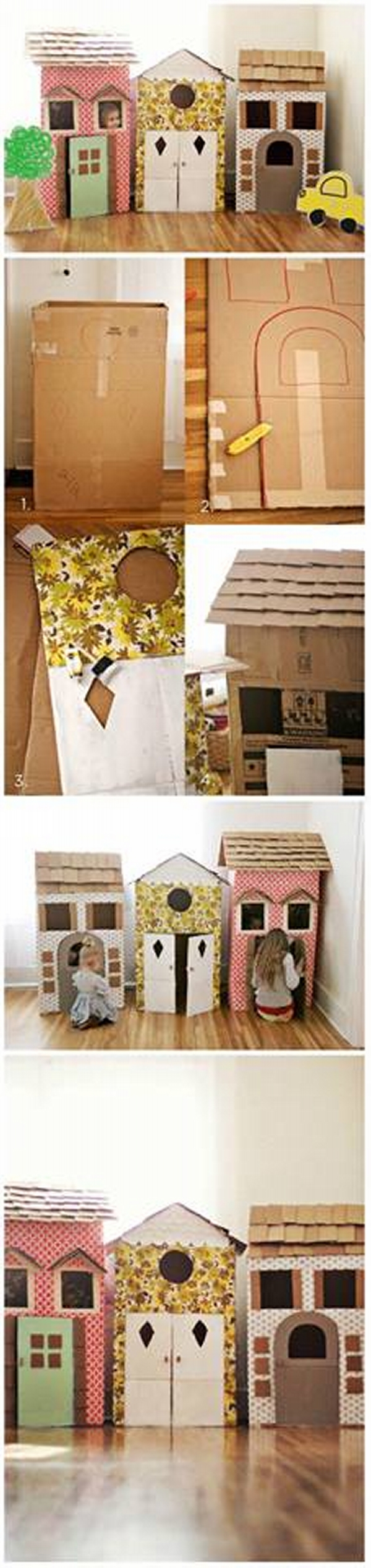 Cardboard Kids House Ideas