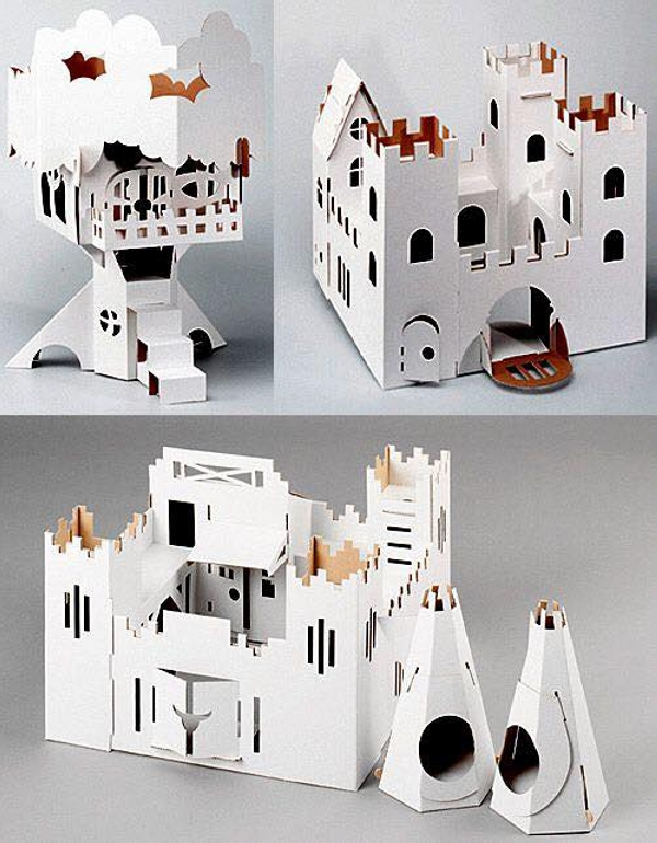 Cardboard Reused Kids Houses