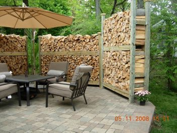 Cordwood fence idea