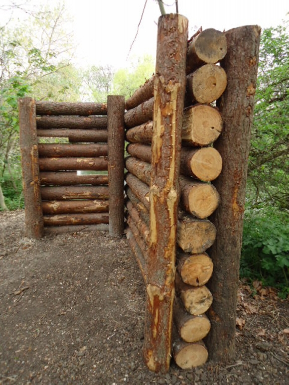 Cordwood fences